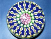 Vintage Signed Perthshire Millefiori Glass Paperweight c1970